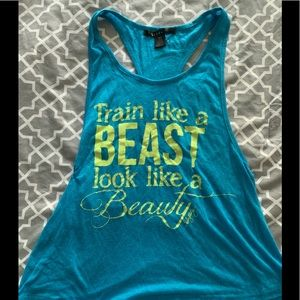 Tops - Workout racer back tank top.